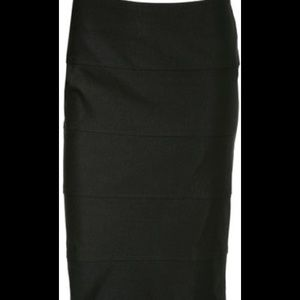 Banded pencil skirt